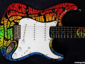 15 2005 AMERICAN SLANG Stratocaster Psychedelic series painted by PAMELINA H.