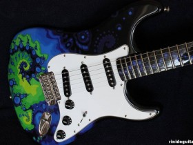 17 2005 SPACE JUNGLE Stratocaster Psychedelic series painted by PAMELINA H.
