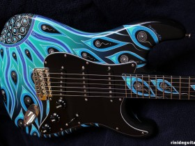 20 2007 LUNAR LIQUID Stratocaster Psychedelic series painted by PAMELINA H.