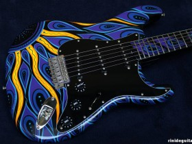 21 2006 STARDUST Stratocaster Psychedelic series painted by PAMELINA H.