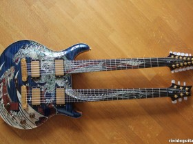 21 2005 20th Anniversary Double Neck DRAGON Whale Blue